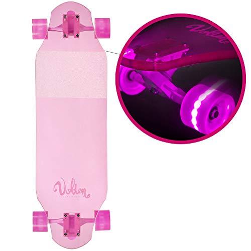 VOLTEN Skateboard Pink EIS 32x10 (LED)