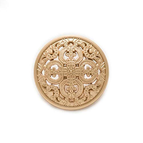 Thuis 5 stks Holle Gesneden Metalen Knopen Naaien Scrapbook voor Jas Blazer Truien Gift Ambachten Handwerk Kleding 11.5-25mm 25mm Zandachtig goud