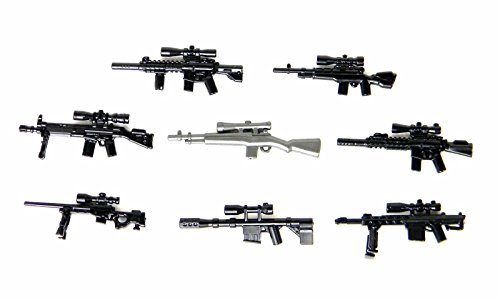Custom Sniper Rifle Pack (P14) Designed for Brick Minifigures