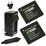 Wasabi Power Battery (2-Pack) and Charger for Canon NB-11L, NB-11LH and Canon PowerShot A2300 IS, A2400 IS, A2500, A2600, A3400 IS, A3500 IS, A4000 IS, ELPH 110 HS, ELPH 115 HS, ELPH 130 HS, ELPH 135 IS, ELPH 140 IS, ELPH 150 IS, ELPH 160, ELPH 170 IS, ELPH 320 HS, ELPH 340 HS, ELPH 350 HS, SX400 IS, SX410 IS