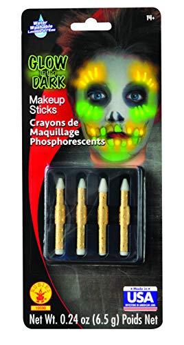 Rubies Kit 4 Crayons de Maquillage phosphorescents - Taille Unique