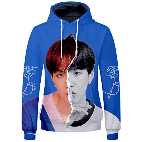 BTS Bangtan Boys V Sweater Shirt JIMIN JIN SUGA Shirt Jacket Pullover Suga-93 White Large