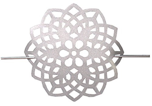 Home Fashion Raffhalter AUS Metall-Blume, Silber, 18 x 2 cm