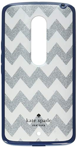 Kate Spade Hybrid Hardshell Case for Motorola Droid Maxx 2 - Silver / Navy Blue