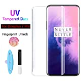 """""""""""OnePlus 7T Pro UV Glass"""""""" : Specifically designed with High-quality, long-lasting film-featuring exceptional display clarity,Full Screen Coverage,Edge to Edge Protection. PROTECTION: Premium quality AGC glass materials protects your phone screen fr..."""
