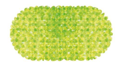 Wohnideenshop Badewanneneinlage Antirutschmatte 35cm x 67cm STONE Plain Steinoptik in grün transparent und andere Farben zum auswählen