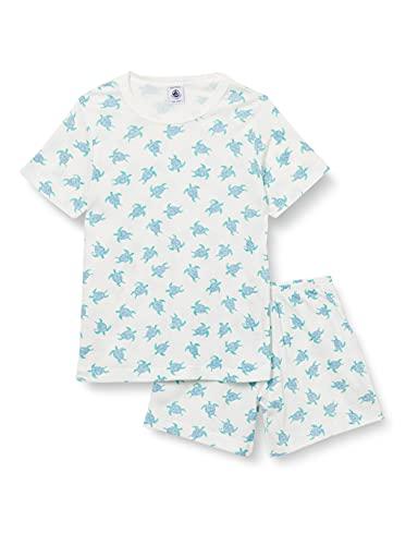 Petit Bateau A003P01 Pajama Set, Marshmallow/Multico, 5 Ans Boys