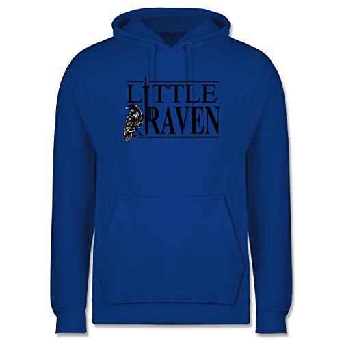 Shirtracer Nerds & Geeks - Little Raven Schriftzug - L - Royalblau - Statement - JH001 - Herren Hoodie und Kapuzenpullover für Männer