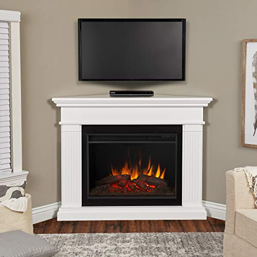 Real Flame Kennedy Grand Corner Electric Fireplace, White