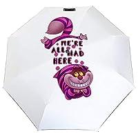 Alice In Wonderland 折りたたみ傘 梅雨対策 晴雨兼用 折り畳み傘 超撥水 軽量 強風対応 紫外線カット 日焼け止め メンズ レディース 持ち運びが簡単
