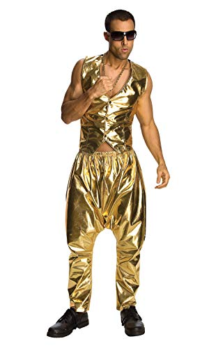 Rubie's Offizielles McWrapper Kostüm, goldene Hose, Discohose, Einheitsgröße