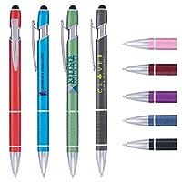 カスタムペン - 楕円スタイラス - ColorJet - フルカラーメタルペン - 1.75ドル/本 100本入り セットアップコストなし PromoStadiumTM ロゴでパーソナライズ可能 ブラック