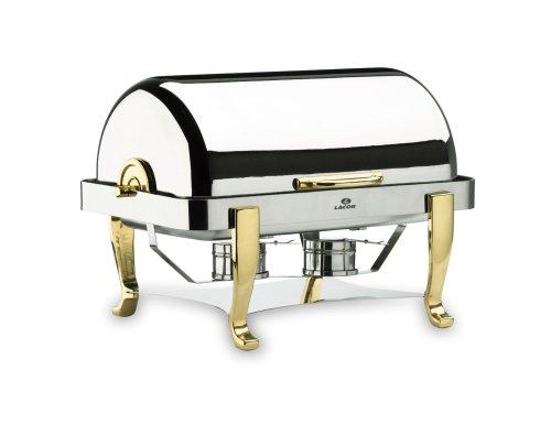 Lacor - 69015 - Chafing Dish 1/1 Roll Top patas De Laton 9 L
