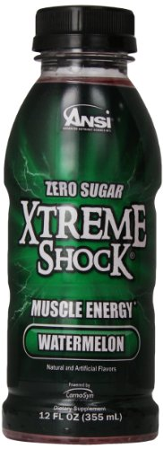 Ansi Xtreme Shock RTD Energy Drink, Watermelon, 12 oz., 12 Count