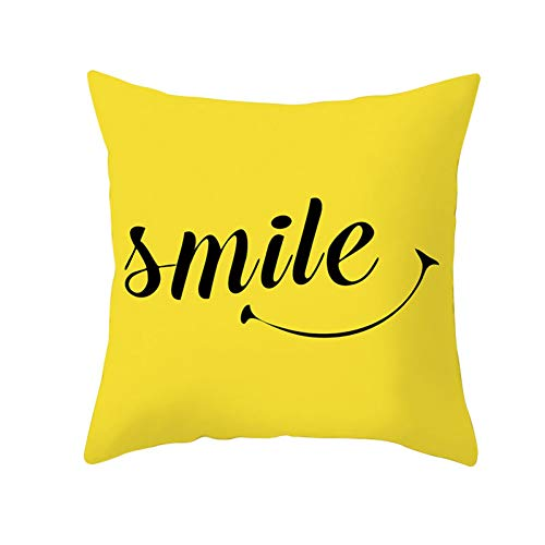 CSCZL Yellow Geometric Cushion Cover Polyester Decorative Pillow Covers Pillowcase Home Decoration 45 * 45cm