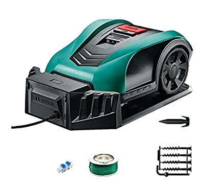 HEN'GMF Robotic Lawn Mower, Battery Powered Mower-7.5-inch Mowing Smart Robot Lawn Mower, Suitable for Yards Up to 350m²,B