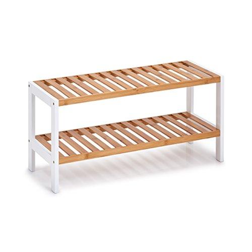 Zeller Schuhregal, Holz, Weiß, 70 x 26 x 33 cm