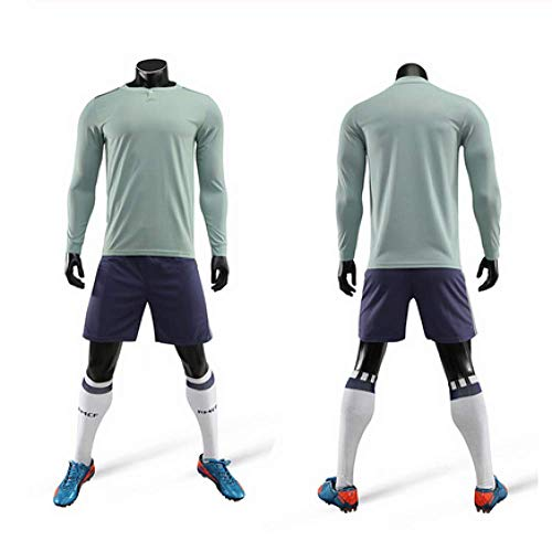 Xiaol sportpak van jersey met lange mouwen voor kinderen, voor volwassenen, 100% polyester kan sportkleding van jersey in maat