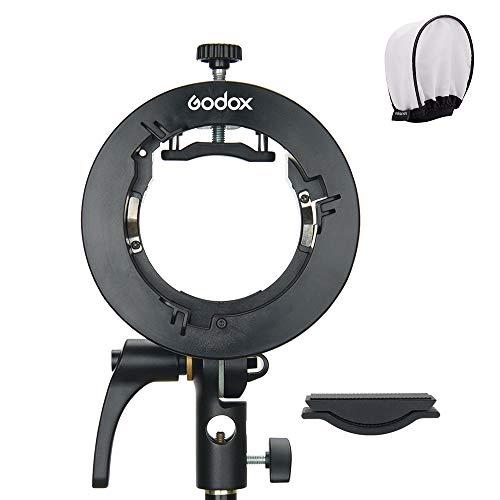 Godox S2ブラケット S型ブラケットホルダー ゴッドクスストロボフラッシュホルダー ボーエンズマウント角度...