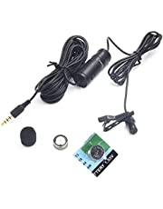 Nicama LVM1 Omnidirectional Condenser Lavalier Microphone, Hands Free Clip-on Lapel Mic for iPhone iPad Android Samsung PC Laptop Mac, Mirrorless Camera Sony DSLR Camera Recorders