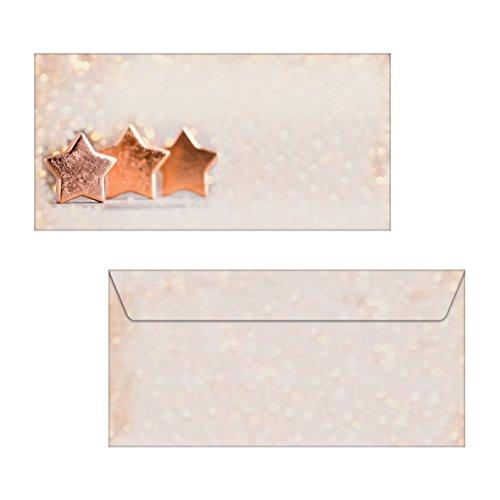 SIGEL DS055 biglietti di Natale con elegante fantasia dorata e fiocco, 10 pezzos