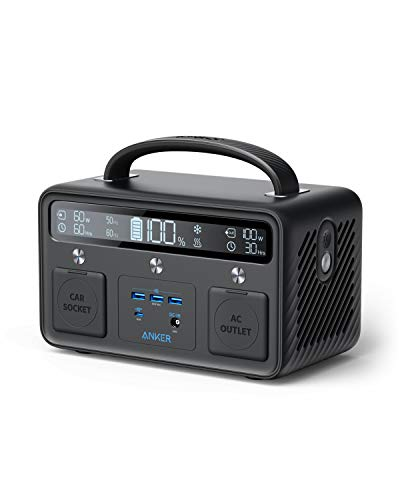 Anker Portable Power Station Powerhouse II 400, 300W/388.8Wh, 110V AC Outlet/60W USB-C Power Delivery Portable Generator for Road Trips, Camping, Emergency Power, and More