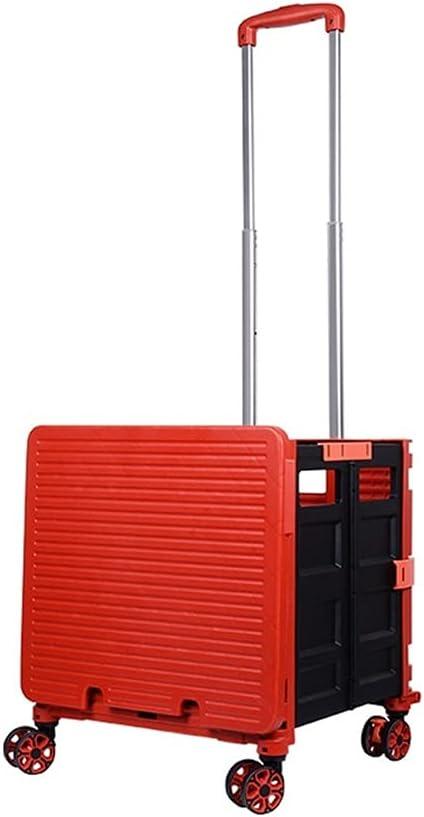 XIAOQIU Shopping Cart Portable Foldin Wheels On New popularity New York Mall Trolley