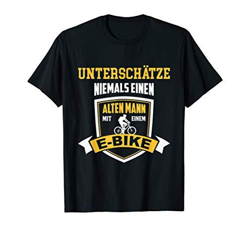 Herren T-Shirt E-Bike Fahrrad E Bike Elektrofahrrad Mann Spruch
