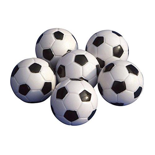 LUOEM 6 Stück Tischfußball Kickerbälle Schwarz Weiß
