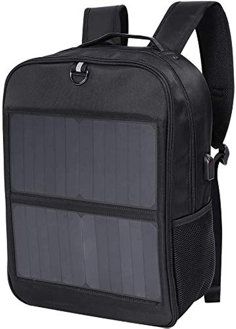 原告ハント独立した太陽 充電器 ラップトップ バックパック 14W 大 容量 太陽 コンピューター バッグ と ポータブル 外部 5V / 2.1A USB 充電 港 合う,A