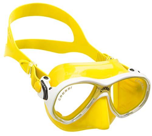 Cressi Marea Jr Mask Kinder Tauchmasken, Weiß/Gelb, Einheitsgröße