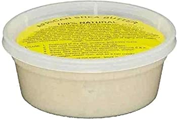 REAL African Shea Butter Pure Raw Unrefined From Ghana IVORY  8oz CONTAINER