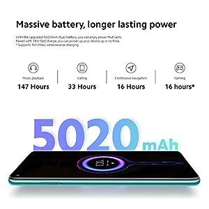 "Xiaomi Redmi Note 9 - Smartphone de 6.53"" FHD (DotDisplay, 3 GB RAM, 64 GB ROM, cámara Quad 48 MP, Hotshot 3.5 mm, Headphone Jack, batería de 5020 mAh) Forest Green [International Version]"