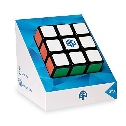 GAN Cube Puzzle 3x3, Gans piastrellato AntiGraffio Magico cubo 3x3x3 Puzzle Toy Nero (2020 GSC)