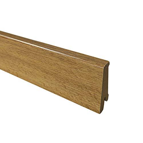 TRECOR Vinyl-/LVT Klick Vinyl-Designboden Massivdiele 6,5 mm stark mit 0,5 mm Nutzschicht inclusive Trittschall - WASSERFEST -Sie kaufen 1 m² (Sockelleiste   240 cm, Eiche Premium Natur)