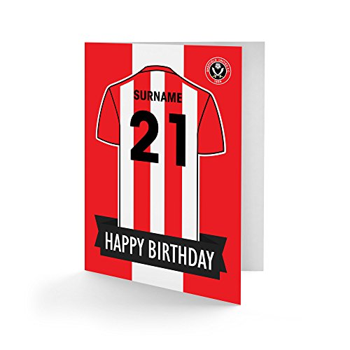 Official PERSONALISED Sheffield United FC Shirt Birthday Card