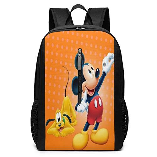 Mouse Backpacks 17 inch School Bag College Bags Laptop Backpack Large Capacity Backpack-(Black)
