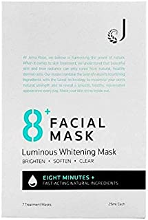 Jema Rose 8+ Minute Luminous Whitening Mask 7 Pack, 7 count