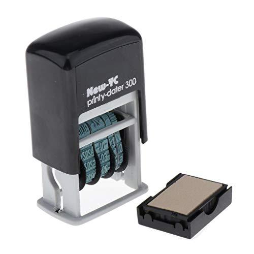 kesoto Timbro Stazionario con Datario Autoinchiostrante H-4mm per Data di Spedizione - Multicolore, 7 x 3 x 4 cm