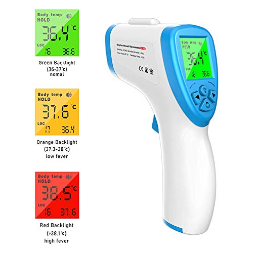 SHATCHI No Touch Infrared Forehead Digital Thermometer...