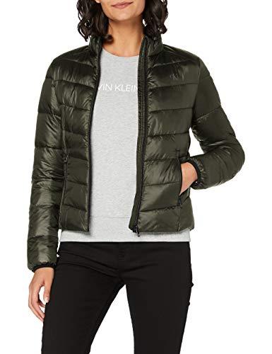 Calvin Klein LW Shiny Jacket Chaqueta, Profundidades Profundas, L para Mujer