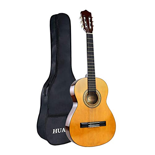 HUAWIND Classical Guitar 3/4 Size Acoustic Guitar 36 Inch Nylon Strings Guitar For Beginners Adults With Bag