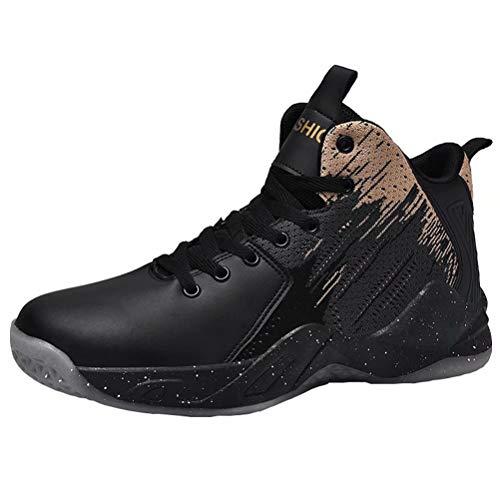 Zapatillas De Baloncesto Hombres De Alta Tapa amortiguación de la luz Transpirable Antideslizante Aire Libre Zapatos Deportivos