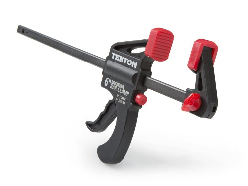 TEKTON Mini abrazadera de barra de carraca de 6 pulgadas por 1.5 pulgadas y extensor de 9 pulgadas