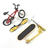 WE-WHLL Mini Scooter Patinete de Dos Ruedas Juguetes educativos para niños Patinete de Dedo Bicicleta Diapasón Patineta-Rojo
