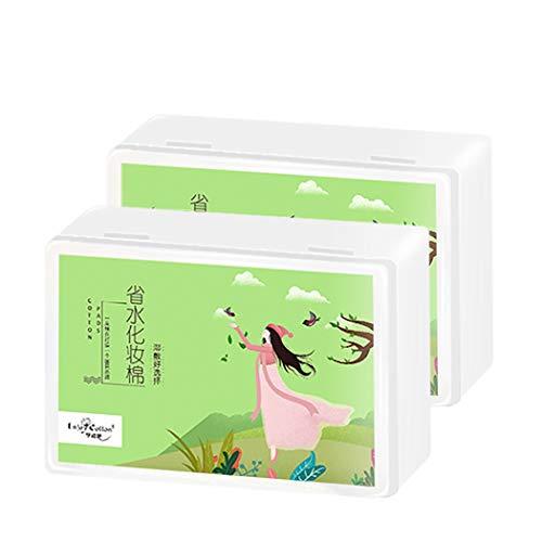 AXIANQICotton Tampon en Coton, dissolvant de Maquillage en Coton à économie d'Eau, Coton 40 (Color : 3 Packs, Size : 40 Pieces/Pack)