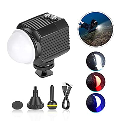 Neewer Underwater Lights Dive Light High Power Fill-in Light 195 Feet Waterproof LED Video Light with 5 Modes Compatible with Yuneec Drones DJI Osmo Pocket Osmo Action GoPro 8/7/6/5 Canon Nikon DSLRs