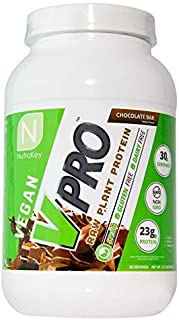 NutraKey V Pro | Plant Based Vegan Protein Powder for Muscle Growth and Recovery - Chocolate 2lbs