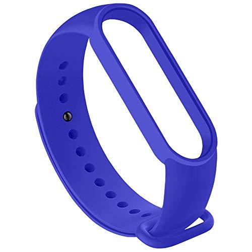 OcioDual Correa de Repuesto Compatible con Xiaomi Mi Smart Band 5 6 Azul Oscura Recambio Silicona Suave Flexible Pulsera