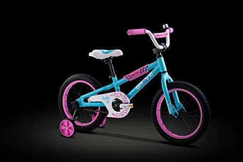 "Brave 16"" Freestyle BMX Kids Bike for Girls. Lightweight Aluminum Frame and Fork, Tool-less quick release Training Wheels, Easy to Ride!"